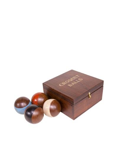 Gargoyles Ltd. Box of 4 Vintage Replica Croquet Balls