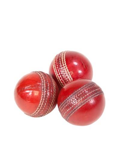 Gargoyles Ltd. Set of 3 Vintage Replica Leather Cricket Balls