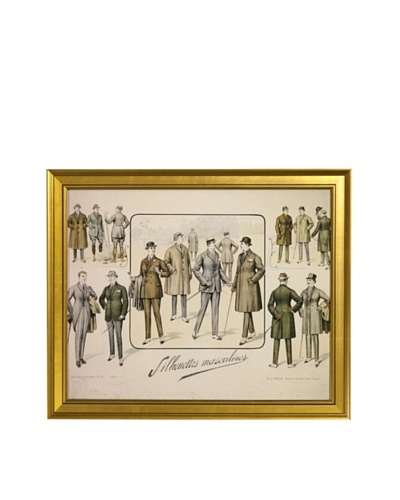 Gargoyles Ltd. Antique Replica Men's Suits Framed Art, 16 x 20