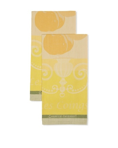 Garnier-Thiebaut Set of 2 Les Coings Kitchen Towels, Jaune