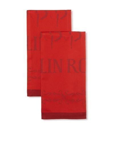 Garnier-Thiebaut Set of 2 Moulin Rouge Music Hall Kitchen Towels