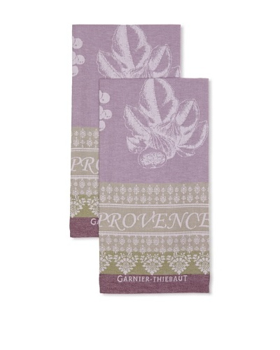 Garnier-Thiebaut Set of 2 Provence Lavande Kitchen Towels