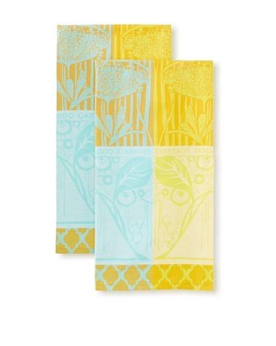 Garnier-Thiebaut Set of 2 Ombelle Kitchen Towels, Ocre