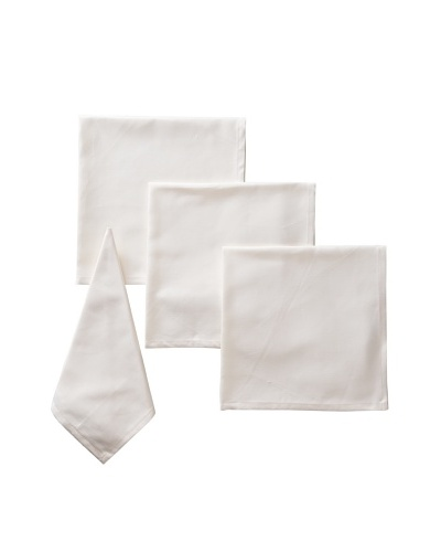 Garnier-Thiebaut Set of 4 Natte Napkins, Ivory