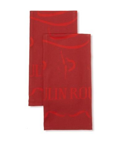 Garnier-Thiebaut Set of 2 Moulin Rouge Spectacular Kitchen Towels [Magic Dusk]