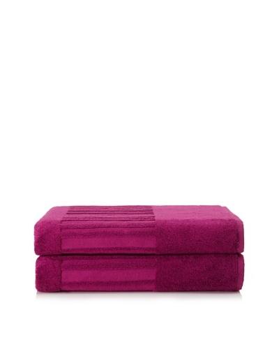 Garnier-Thiebaut Set of 2 Spa Bath Sheets [Fuchsia]