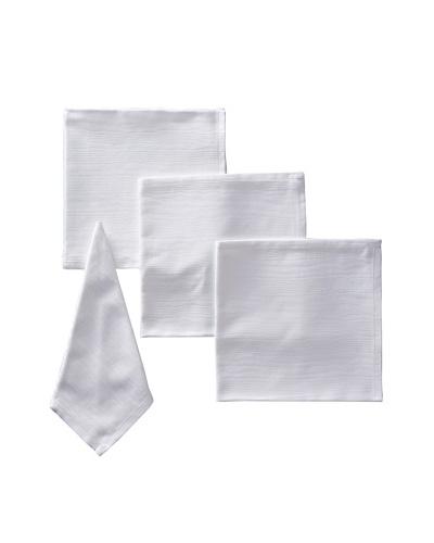 Garnier-Thiebaut Set of 4 Wave Napkins, White