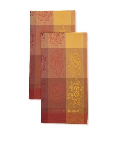 Garnier Thiebaut Set of 2 Abecedaire Copper Kitchen Towels
