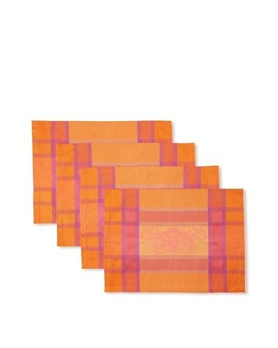 Garnier-Thiebaut Set of 4 Nymphee Placemats [Peche Rosee]