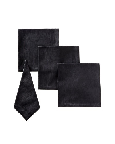 Garnier-Thiebaut Set of 4 Organic Napkins, Black