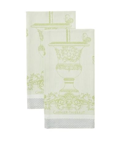 Garnier Thiebaut Set of 2 Butterfly Garden Vert Opaline Kitchen Towels