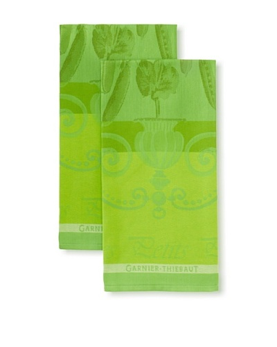 Garnier-Thiebaut Set of 2 Petits Pois Kitchen Towels, Vert
