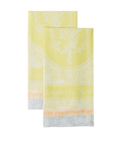 Garnier-Thiebaut Set of 2 Bouquet de Rose Solaire Kitchen Towels
