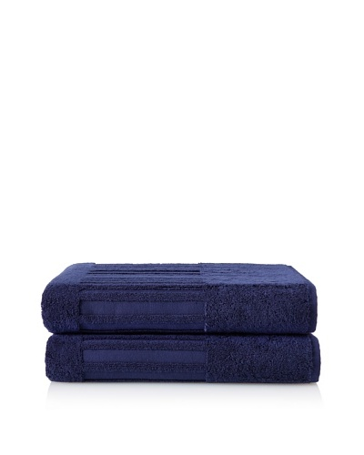 Garnier-Thiebaut Set of 2 Bath Sheets, Navy