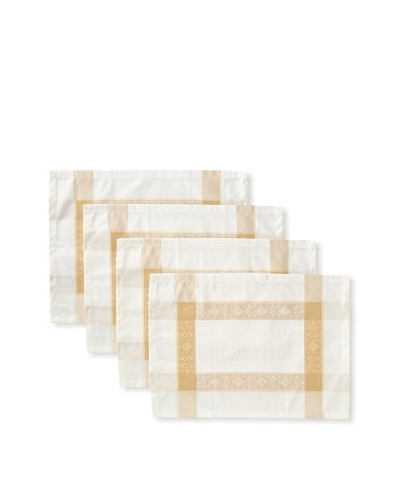 Garnier-Thiebaut Set of 4 Imperatrice Placemats, Gold