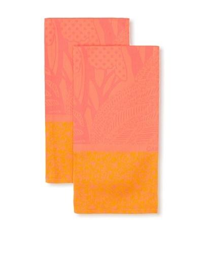 Garnier-Thiebaut Set of 2 Oiseaux Kitchen Towels, Rose