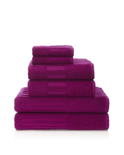 Garnier-Thiebaut 6-Piece Bath Towel Set [Fuchsia]