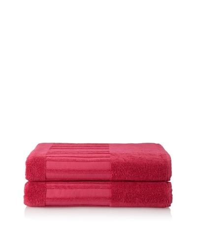 Garnier-Thiebaut Set of 2 Bath Sheets, Framboise