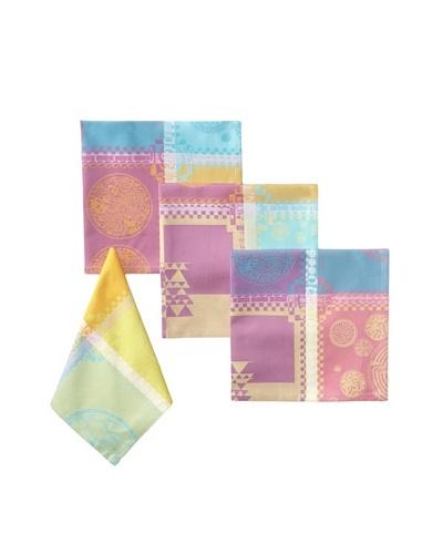 Garnier-Thiebaut Set of 4 Mille Batik Napkins, Vibrant