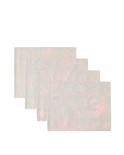 "Garnier-Thiebaut Set Of 4 Mille Eclats Placemats, Rose, 16"" x 20"""