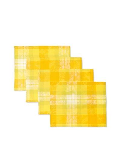 Garnier-Thiebaut Set of 4 Mille Panache Placemats [Canary]