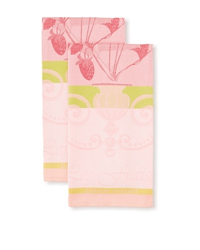 Garnier-Thiebaut Set of 2 Fraisier Kitchen Towels, Rose