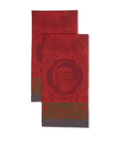 Garnier Thiebaut Set of 2 Couronne De Noel Houx Kitchen Towels