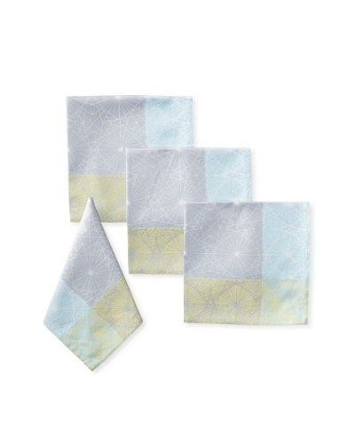 Garnier-Thiebaut Set of 4 Galaxy Napkins, Sky