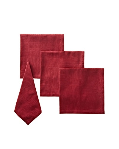 Garnier-Thiebaut Set of 4 Organic Napkins, Burgundy