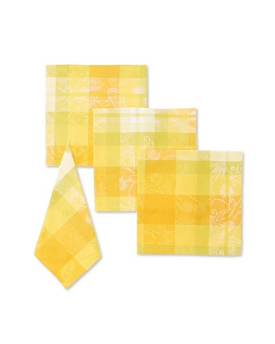 Garnier-Thiebaut Set of 4 Mille Panache Napkins [Canary]