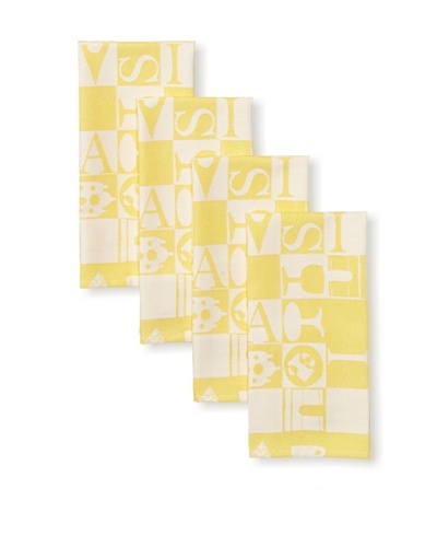 Garnier-Thiebaut Set of 4 Bistrot Guest Towels