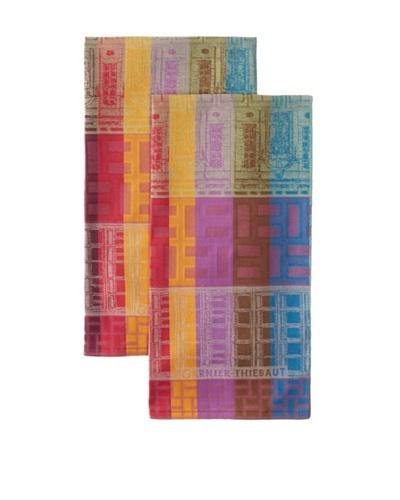Garnier-Thiebaut Set of 2 La Ville Kitchen Towels, Neon