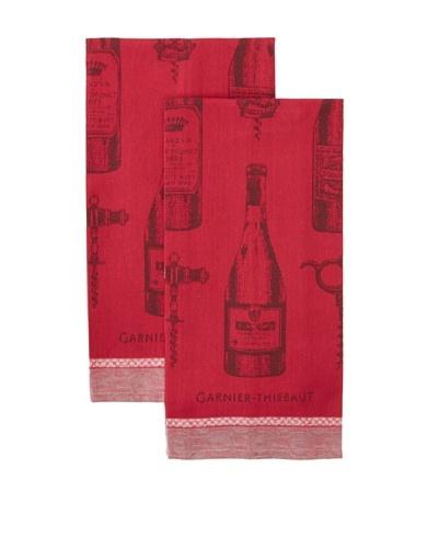 Garnier Thiebaut Set of 2 Le Vin Syrah Kitchen Towels