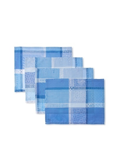 Garnier-Thiebaut Set of 4 Mille Wax Placemats, Ocean, 16 x 20