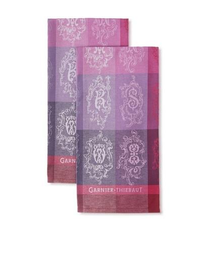 Garnier-Thiebaut Set of 2 Abecedaire Kitchen Towels, Purple, 22 x 30As You See