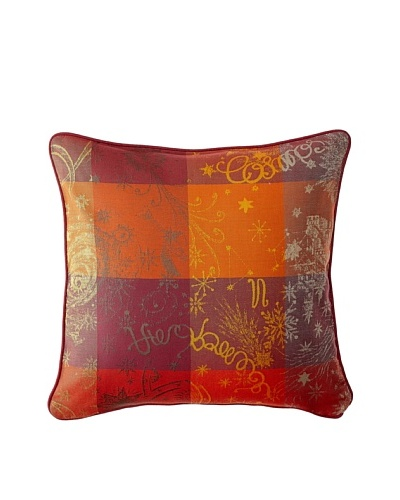Garnier-Thiebaut Mille Couleurs Red Cushion