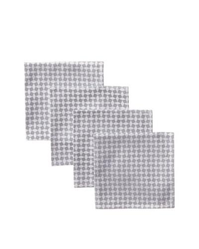 Garnier-Thiebaut Set of 4 Illusion Napkins, Metal