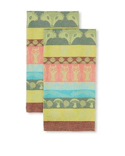 Garnier Thiebaut Set of 2 Animaux Chamarre Kitchen Towels