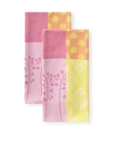 Garnier-Thiebaut Set of 2 Lily Kitchen Towels, Candy