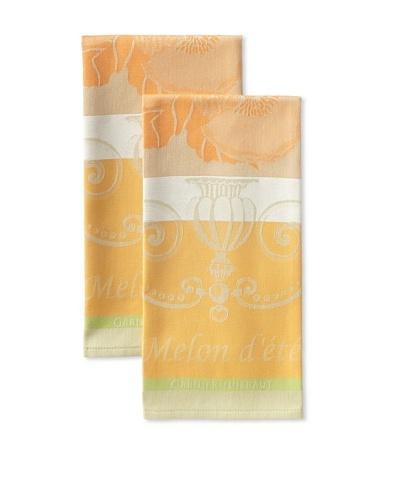 Garnier-Thiebaut Set of 2 Melon Kitchen Towels, Orange