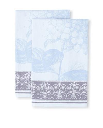 Garnier-Thiebaut Set of 2 Hortensia Kitchen Towels, Blue