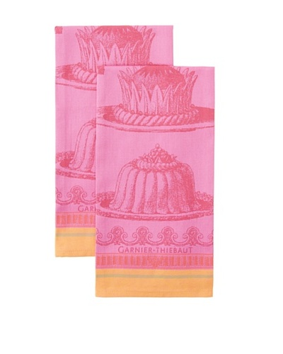 Garnier-Thiebaut Set of 2 Gateaux Merveilleux Kitchen Towels, Raspberry