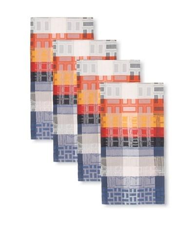 Garnier Thiebaut Set of 4 La Ville Acier Kitchen Towels