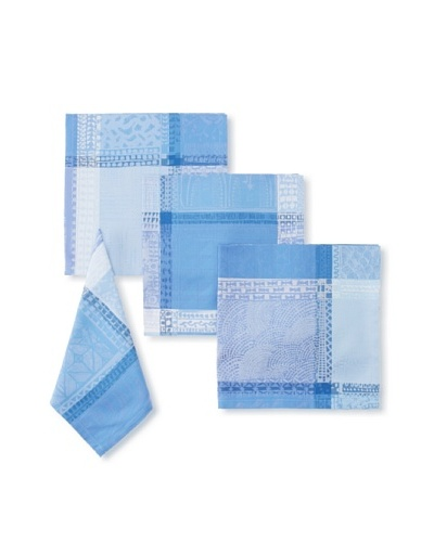 Garnier-Thiebaut Set of 4 Mille Wax Napkins, Ocean