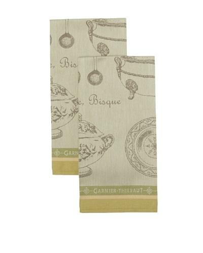 Garnier Thiebaut Set of 2 Service A Soupe Sauge Kitchen Towels