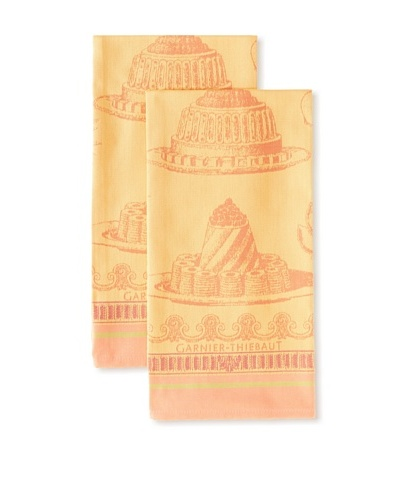 Garnier-Thiebaut Set of 2 Gateaux Delicieux Kitchen Towels, Abricot, 22 x 30As You See