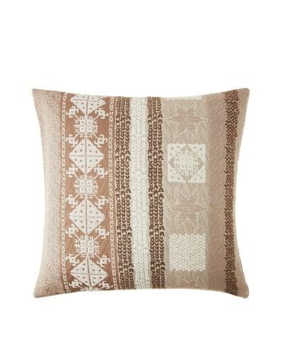 Garnier-Thiebaut Tricot Marron Glace Cushion