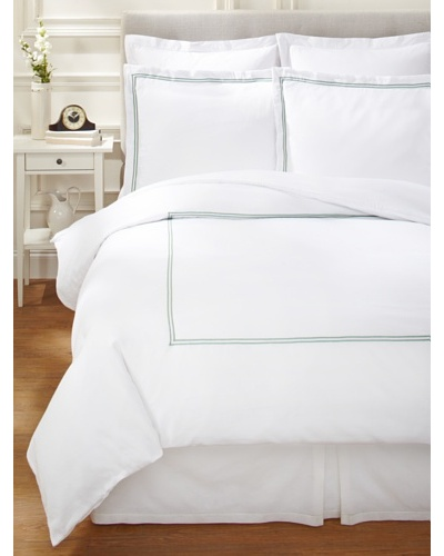 Garnier-Thiebaut Nice Duvet Cover Set [White/Light Green]