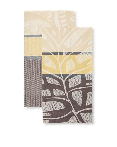 Garnier Thiebaut Set of 2 Palmier & Palme Coco Kitchen Towels