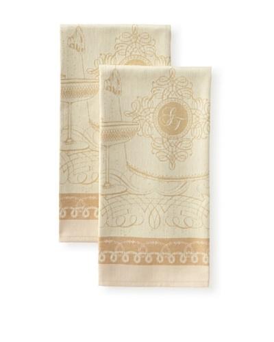 Garnier-Thiebaut Set of 2 Chalons Kitchen Towels, Dore